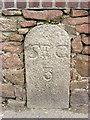 WV6947 : Old Milestone, A5, La Grande Route de St Clement (Ancien jalon) by Alan Roseveer